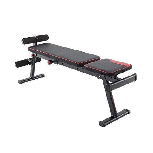 CCAN Hantelbank Sit-Up Aid Bauch Trainer Home Multifunktions-Fitnessstuhl, Rückenlehne Kann in Mehreren Bereichen verstellbar, zusammenklappbar, sicher und stabil aufbewahrt Werden