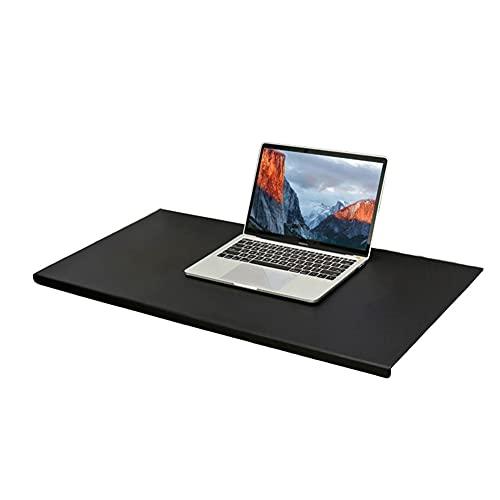 Almohadilla de escritorio de piel de lujo con perfil frontal en forma de L, alfombrilla de ratón grande con protector de bordes, alfombrilla de escritura suave impermeable, color negro 80X40cm