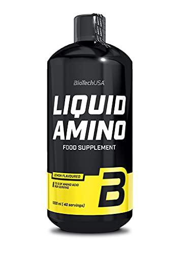 BioTechUSA Flüssiges Amino, Lemon - 1000 ml. 1er Pack(1 x 100 g)