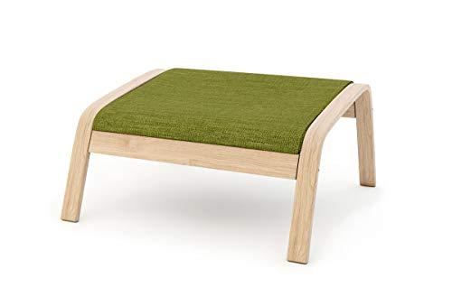 Masters of Covers - Funda de repuesto para sillón de Ikea «Poäng», Poliéster, verde., Footstool Design 2