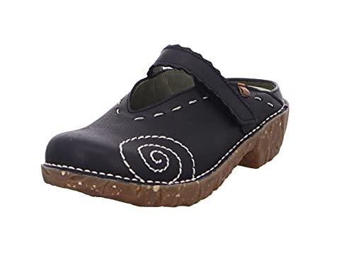 El Naturalista Mujer Zuecos Yggdrasil, señora Zuecos,Plantilla Desmontable,Zuecos de Verano,Zapatos Casuales,Pantuflas,Black,40 EU / 7 UK