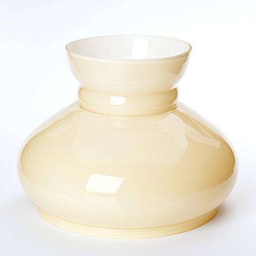 Vesta Schirm, beige, Petroleumlampe, Petroschirm Glasschirm Öllampe Petroleum Glas, Ersatzschirm (Durchmesser unten: 190mm)