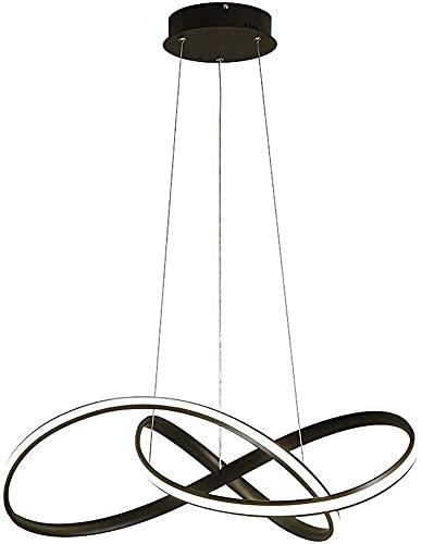 Waqihreu Candelabro LED Redondo Moderno, candelabro Ajustable Creativo, candelabro de Techo Minimalista Moderno, Utilizado en Comedor, Dormitorio, Sala de Estar