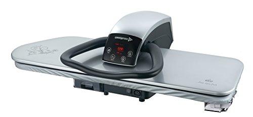 101HD alta resistencia professional ironing press 101cm - plata (+ filtro anti-ensuciamiento GRATIS para agua, cubierta de repuesto y espuma poco glaseada)