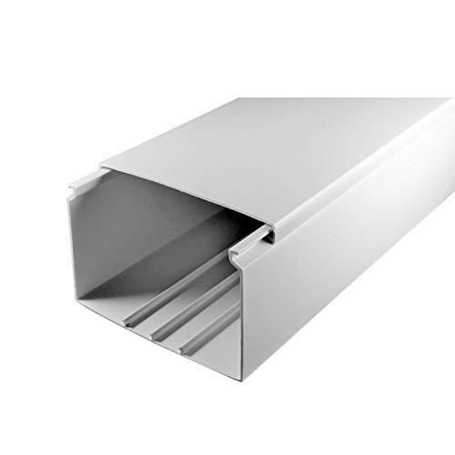 SCOS Smartcosat SCOSKK61 10 m Kabelkanal (L x B x H 2000 x 100 x 60 mm, PVC, Kabelleiste, Schraubbar) weiß