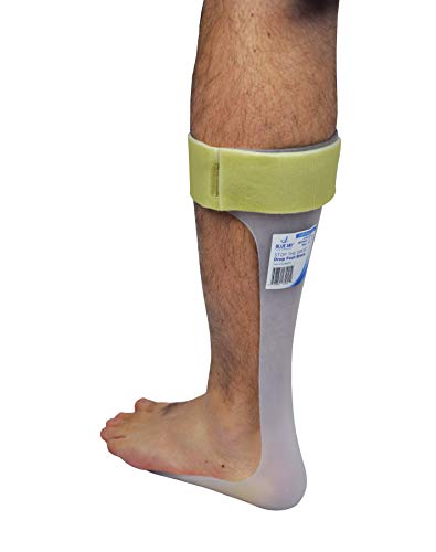 Blue Jay Drop Foot Brace for Right Leg - Large Size for Men 10.5-13, Women 12-14.5, Medical Brace Boot, Heel Pain, Treatment Braces, Heel Spurs. Leg and Foot Supports