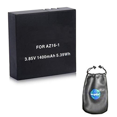 Amsahr bt-xiaz16–Batteria sostitutiva per fotocamera e videocamera Xiaomi digitale 1-1ct AZ16AZ16–1/1/2/Xiaomi Yi Action Camera 4K/Yi 360VR–grigio
