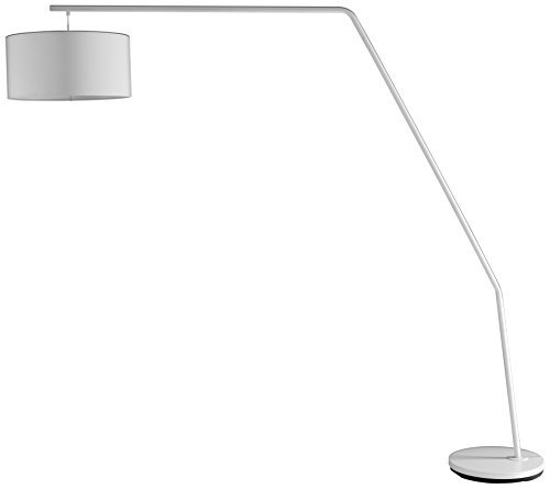Wink design, Clearwater, Lampada da Terra, Bianco Opaco, metallo