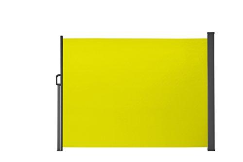 Seitenmarkise für Balkon und Terrasse, mit Bodenmontage, Sichtschutz, Sonnenschutz, Seitenrollo  160 x 300 cm, Lemon