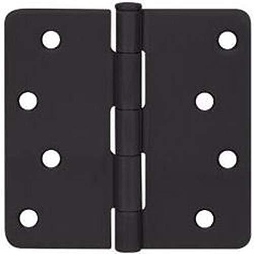 12 Pack - Cosmas Flat Black Door Hinge 4