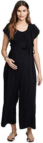 Ingrid Isabel Women s Wide Leg Maternity Jumpsuit Black Small product image