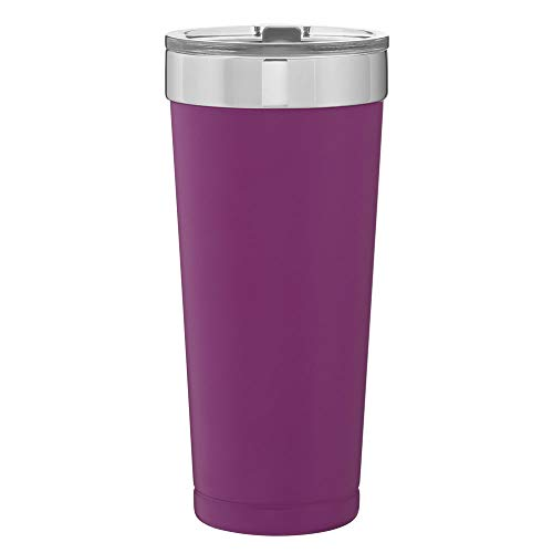Double Wall 18/8 Stainless Steel Copper Vacuum Insulated Thermal Tumbler 20.9 oz. - Matte Grape Purple