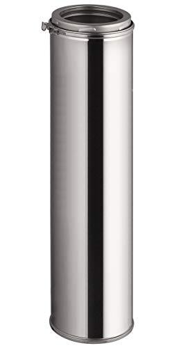 Edelstahl Schornsteinverlängerung - Doppelwandiges Schornsteinrohr in allen Längen und Durchmessern (Ø 150mm, 1000mm)