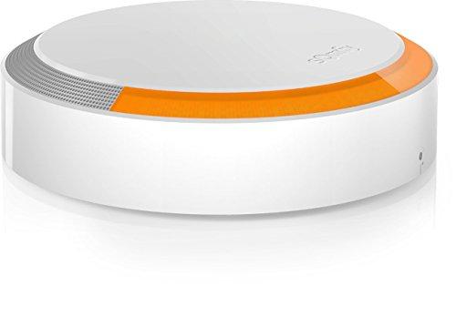 Somfy 2401491 - Outdoor Siren für Sicherheitssystem Plug und Play, Weiß | 112dB Aussensirene | Blitzlicht in der Farbe orange | Automatische Abschaltung | Sabotageschutz