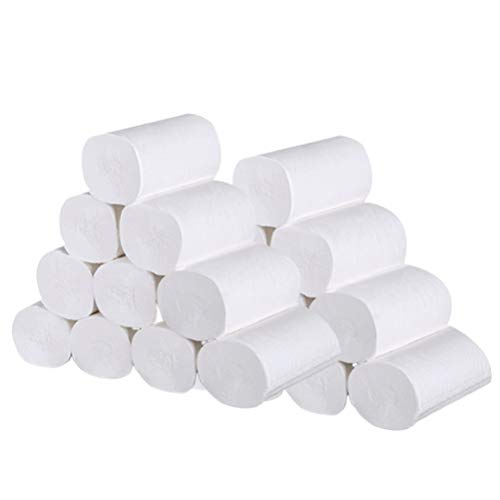 Exceart 24 Stks Wc-Papier Zachte Thuis Keuken Toiletpapier Servet 4 Lagen Handdoeken Voor Thuis Badkamer Keuken (Wit)