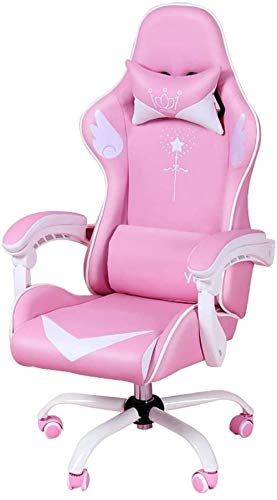 XUANFEI Bürostuhl Gaming Stuhl, Computer Stuhl Mädchen Rosa, Home Fashion Live-Stuhl Internet Cafe Spiel Stuhl Rotary Lift Büro Boss Stuhl