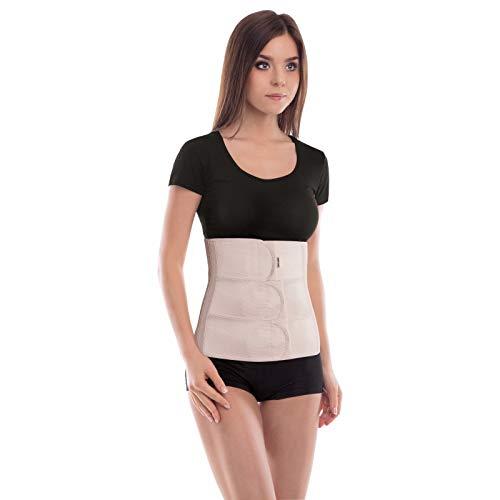 Cinturón abdominal de sujeción; Sujeción de espalda; Banda de sujeción abdominal; Cinturón de soporte postoperatorio; 31cm de altura Medium Beige