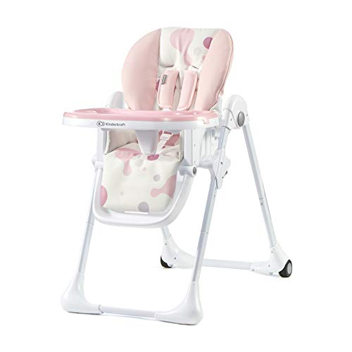 Kinderkraft Chaise Haute Enfant YUMMY, Pliable,...