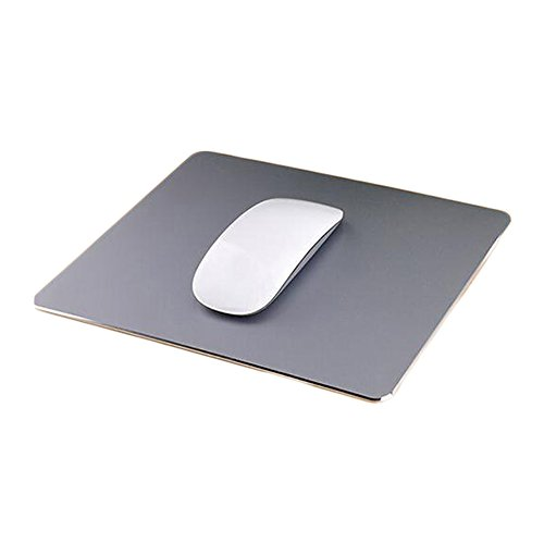 Delmkin Unisex-Youth, Grau-250200mm, Mauspad Aluminium Pad Laptops Mouse Pad-250200mm (Grau-2)