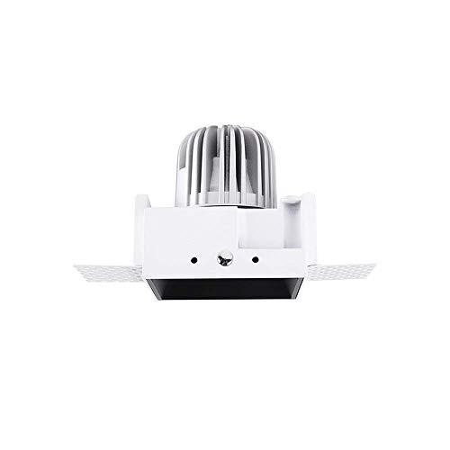 Foco cuadrado antideslumbrante de 8 vatios CRI90 Luminarias de techo con alto rendimiento cromático Ángulos ajustables Focos empotrados Iluminación de la sala de exposiciones Luz empotrada en el tec