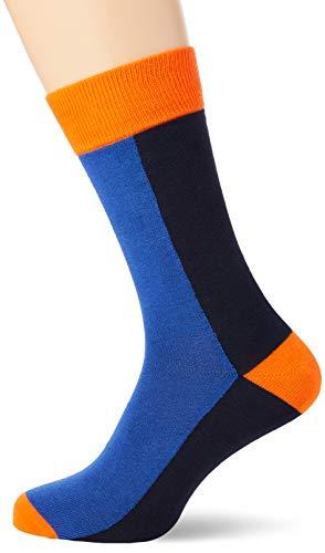 GANT Herren D1. 1-Pack Colorblock Klassische Socken, Crisp Blue, Onesize