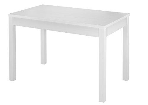 Erst-Holz® Tisch 80x120 Schlichter weißer Esstisch Massivholz 90.70-51 A W