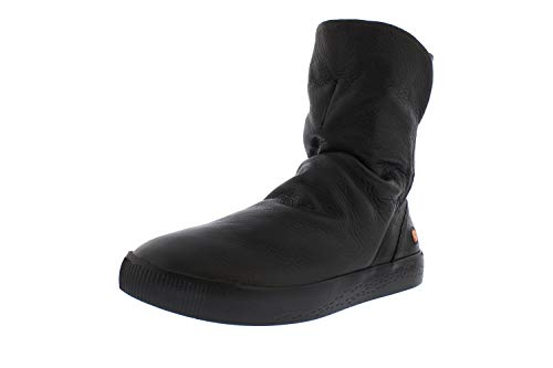Softinos Damen Boots SHAZ614SOF, Frauen Stiefel,lose Einlage, Boots lederstiefel Freizeit,Schwarz(Black),41 EU / 7.5 UK