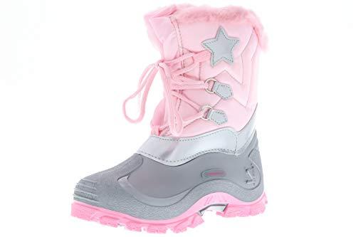 Spirale Kinder Mädchen gefütterte Winterstiefel Snowboots Cadmium-, Nickel- und Bleifrei rosa, Größe:34, Farbe:Rosa