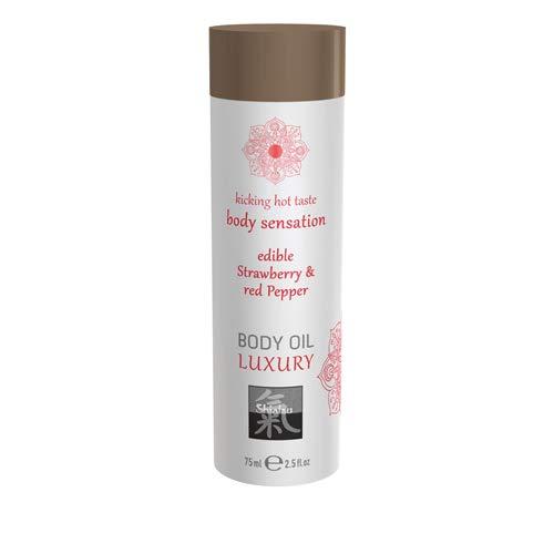 Shiatsu - Luxe Eetbare Body Oil - Aardbei & Rode Peper
