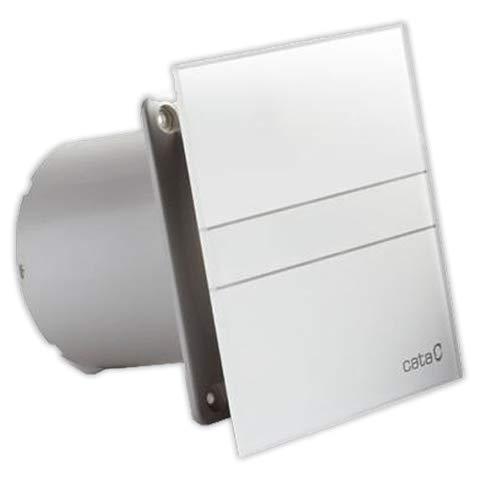 CATA E 100 GT Modelo E-100 baño silencioso | Serie e Glass | Bajo Consumo | Ventilador Extractores de aire | Alta Eficiencia Energética, 8 W, 230 V, Cristal Blanco