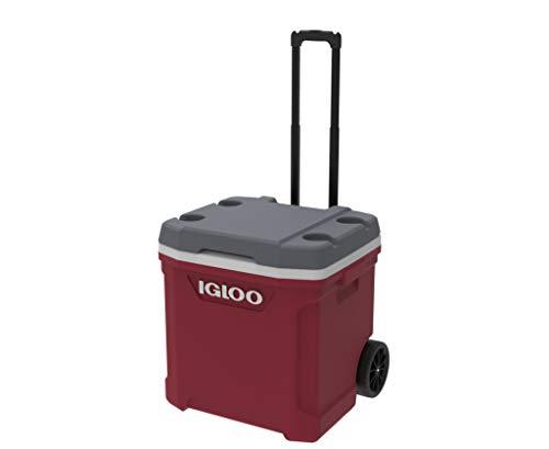 Igloo Nevera portátil Latitude 57 litros Roller-Roja Ruedas, Camping-Deportes, Rojo, 56x45x51