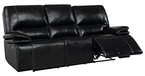 TTONG Global Furniture USA Black Power Reclining Sofas, Standard, White