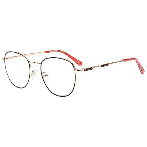 Fashion Glasses Frames for Men/Women Optical Eyeglasses with Blue Light Blocking Non Prescription Lens
