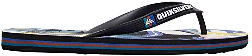 Quiksilver Molokai Print (Tropical Flow) Black/White/Blue 12
