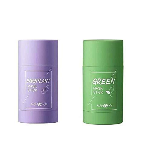 Maschera In Stick Argilla Purificante Al Tè Verde Da 2 Pezzi - Controllo Dell'olio...