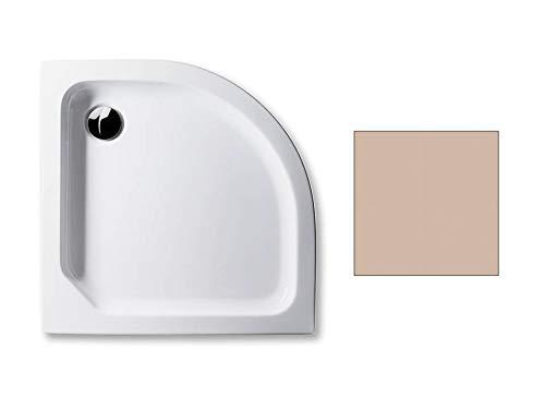 Acryl Duschwanne 90 x 90 cm Radius 55 Farbe: BAHAMABEIGE flach 6,5 cm Viertelkreis Dusche/Duschtasse / Brausewanne