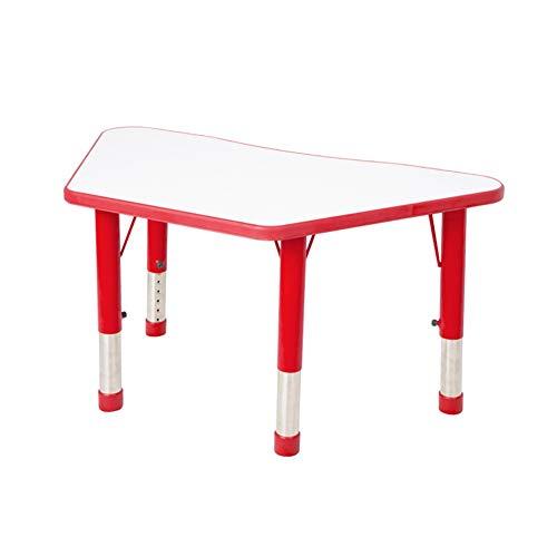 ZHAOHUI-Ensembles Table et Chaise pour Enfants Plastique Pieds De Table en Métal Préscolaire Apprendre La Peinture en Train De Lire Chambre Ménage Facile À Frotter, 6 Couleurs (Color : Red-A)