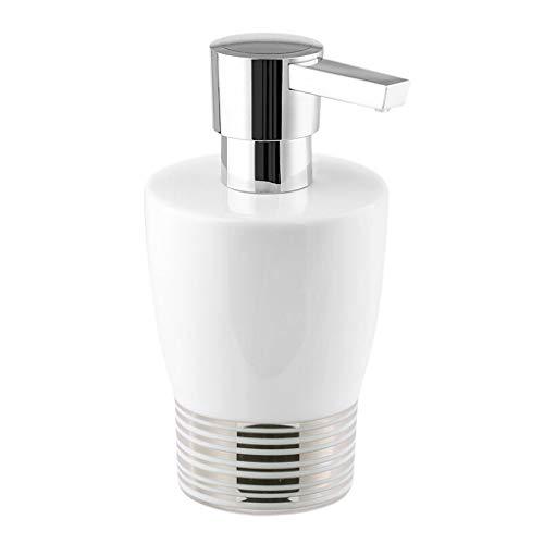 YIFEI2013-SHOP dispensador de jabón Moda Cerámica Dispensador De Jabón Hotel Escuela Gimnasio Desinfectante De Manos Creativo Botella Hogar Jabón Caja De Jabón Soap Dispenser (Color : Silver A)