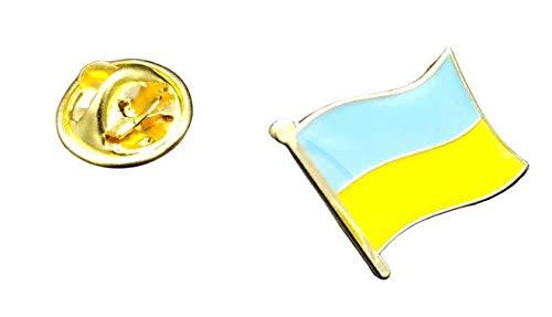 Speld vlag Mastil Oekraïne 16 x 15 mm