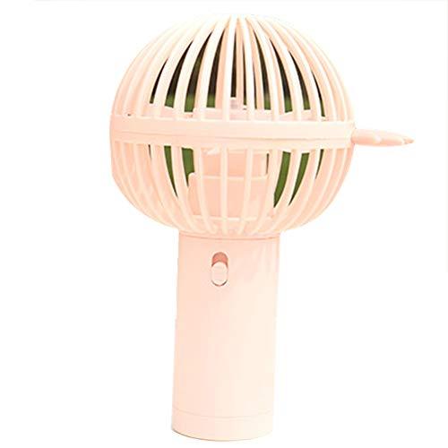 Dosige' Handventilator Ventilator Tragbarer Mini Lüfter Niedlich Eiscreme Mikrofon Form USB Wiederaufladbarer Klein Lüfter für Kinder 8.8 * 15CM