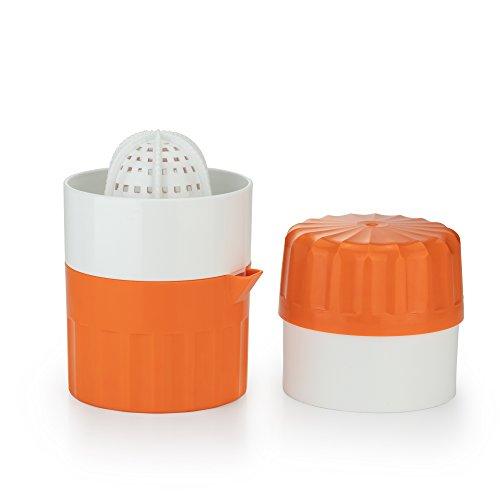 Börner Saftpresse Orange, Entsafter, Zitruspresse manuell, Zitronenpresse mit Auffangbehälter, Handsaftpresse