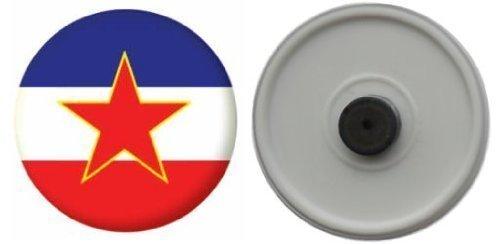 Kühlschrankmagnet Flagge Fahne Jugoslawien mit Stern - 58mm
