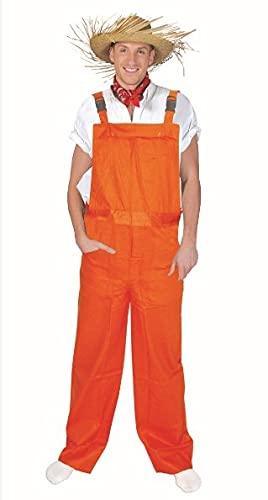 Funny Fashion Unisexe de Salopette Orange pour Le déguisement Clown