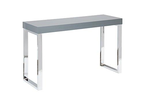 Mesa de escritorio gris oscuro elegante
