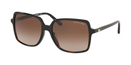 Michael Kors 0MK2098U Gafas, DARK HAVANA/BROWN SHADED, 56 para Mujer