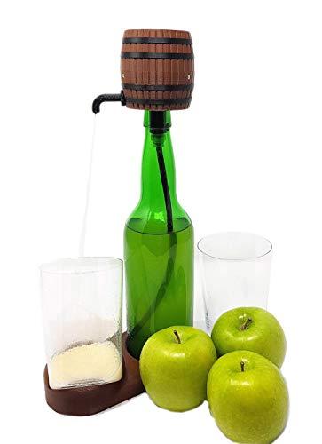 Escanciador de Sidra Eléctrico + Botella de Sidra Natural de Trabanco + 2 Vasos de Sidra Finos. Nuevo Modelo 2020, Asturianin