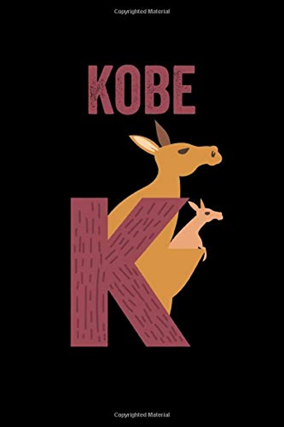 なんでもパキスタン人一節Kobe: Journal (Diary, Notebook) Personalized Custom Name Alphabet Kangaroo Birthday Gift for Boys