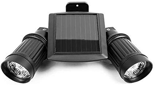 LED outdoor zonne-spot, dubbele kop PIR menselijk lichaam inductie wandlamp huis telescoop licht tuin licht instelbaar, whitelight, Kleur: Warmlight (Color : Warmlight)