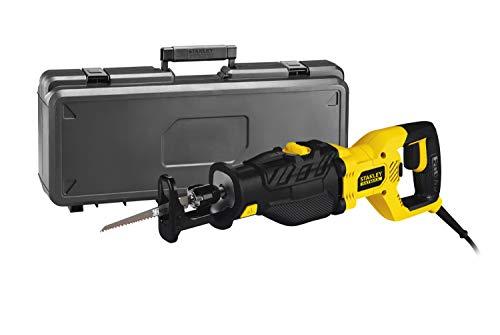 STANLEY FATMAX FME365K-QS - Sierra de sable eléctrica 1.050W, longitud carrera 28mm, incluye maletín