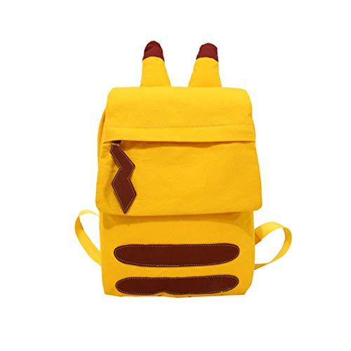 Pokémon Detective Pikachu Rucksack Pokémon Reisetasche Bookbag Laptop Rucksack für Kinder Kinder Teen (Rucksack)